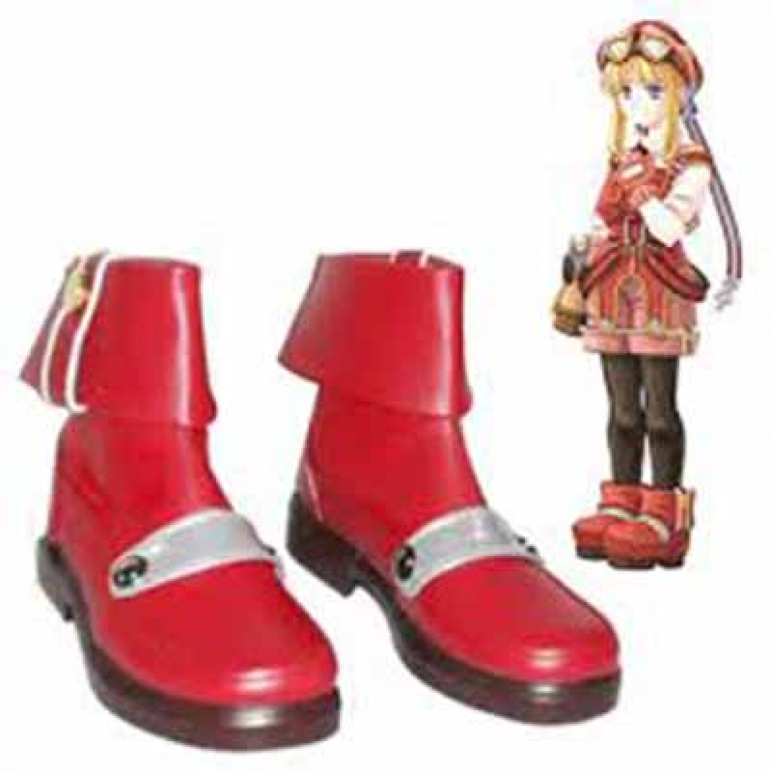 Trails in the Sky Tita Russell PU Leaether Cosplay Shoes