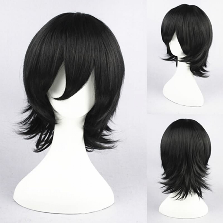 The Prince of Tennis Kaidoh Kaoru Heat Resistant Fiber Black Anime Cosplay Wig