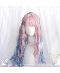 Sweet Lolita Wigs Long Blue Gradient Double Ponytail Party Wig