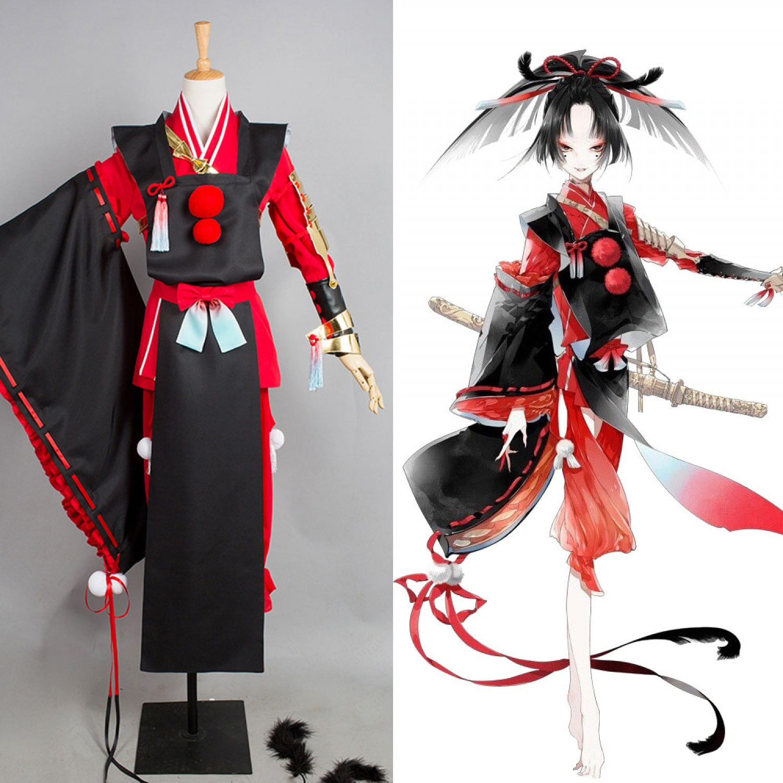 Touken Ranbu Kogarasumaru Japan Kimono Cosplay Costume