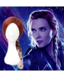 Avengers Endgame Black Widow Long Wavy Cosplay Hair Wig