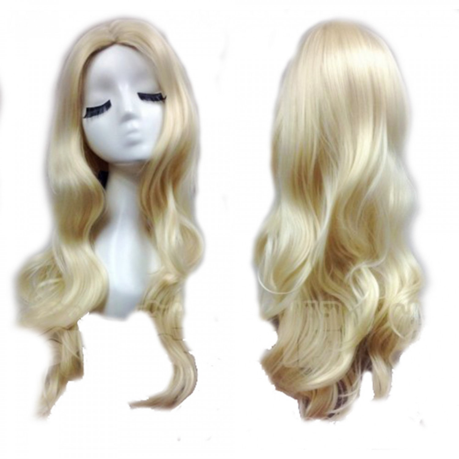Black Canary Long Wavy Cosplay Hair Wig Golden Black Canary Anime Styled Wig