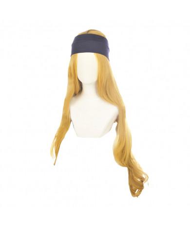 Persona 5 Chihaya Mifune Long Curly Golden Cosplay Hair Wig