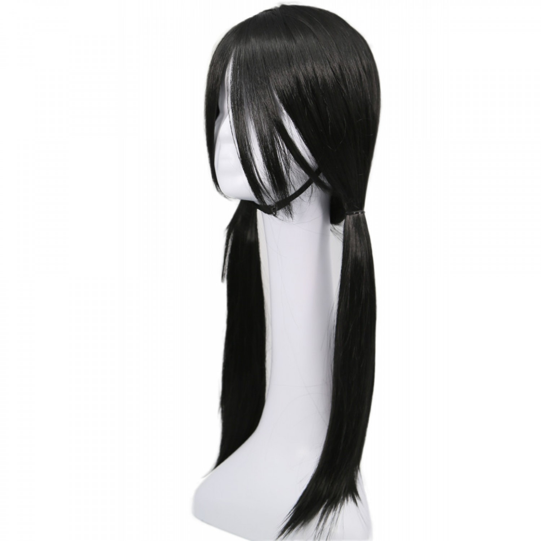 Dragon Ball Videl Black Long Straight Cosplay Hair Wig