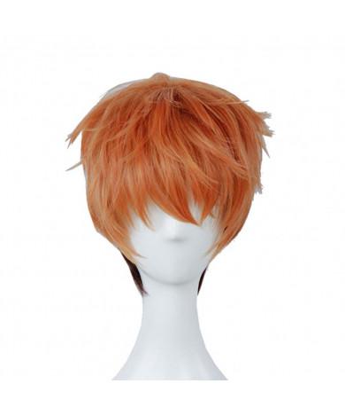 Zootopia Nick Wilde Cosplay Hair Wig Disney Short Orange Anime Styled Wig with Wig Cap