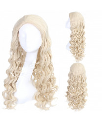 Alice Through the Looking Glass Long Withe Wavy Cosplay Costume Wig