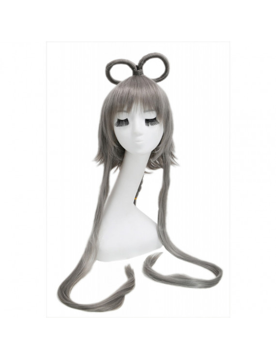 Vocaloid China Cosplay Prestyled Long Dark Grey Straight Cosplay Wig