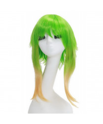 Vocaloid Camellia Gumi Cosplay Wig Short Straight Gradient Green Color Party Wig 45cm