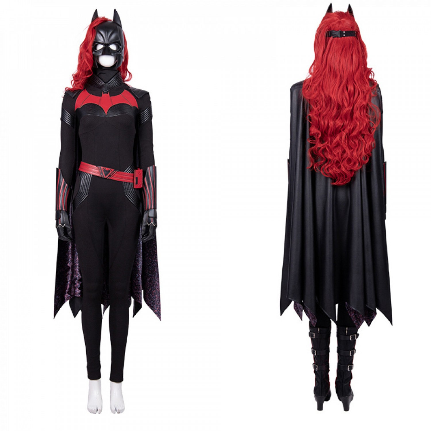 2019 Batwoman Jumpsuit Cosplay Costume Without Boots