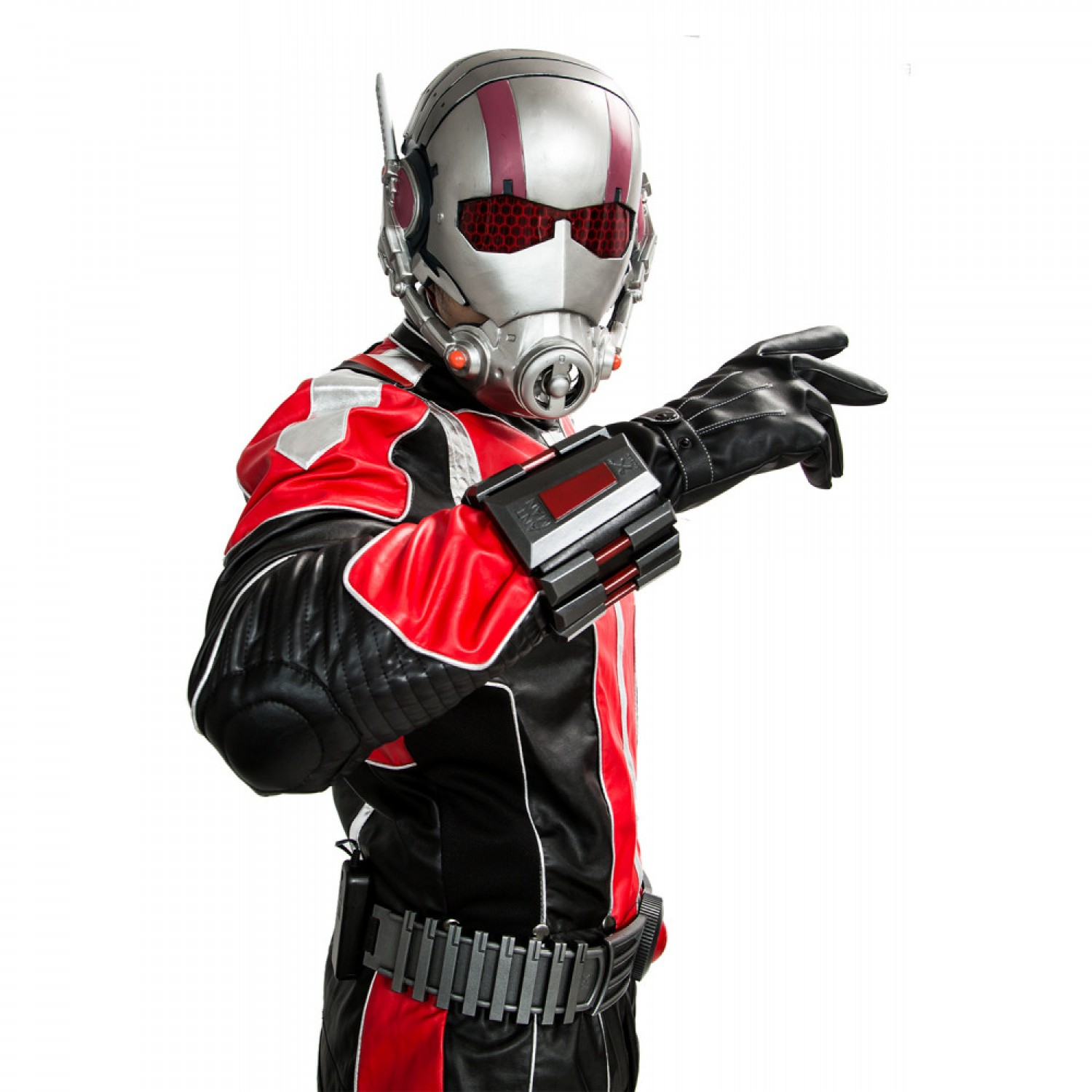 Ant Man Costume Marvel Superheros Antman Cosplay Suit Black and Red PU Outfit Mask For Adult Custom Made