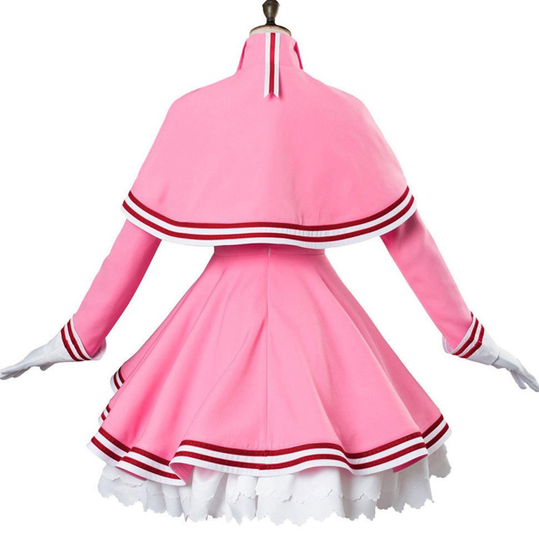 Sakura Kinomoto Pink Uniform Cosplay Costume