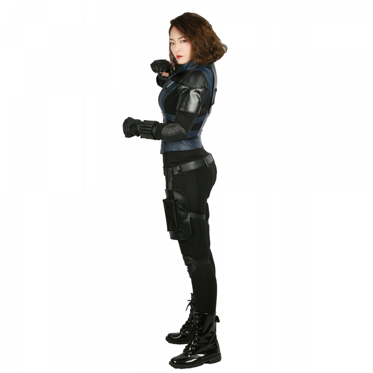 Avengers Infinity War Black Widow PU Leather Cosplay Costume