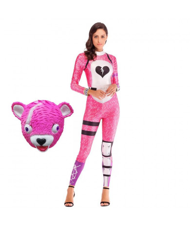 Fortnite Cuddle Team Leader Spandex Jumpsuit Cosplay Costume