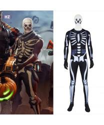 Fortnite Skull Trooper Spandex Onesie Jumpsuit Cosplay Costumes