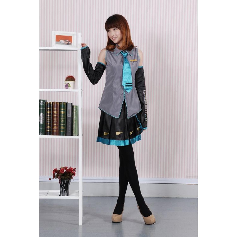 Vocaloid Hatsune Miku Initial Dress Cosplay Costume