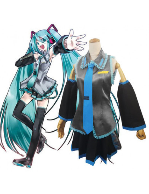 Vocaloid Hatsune Miku Initial Dress Cosplay Costume