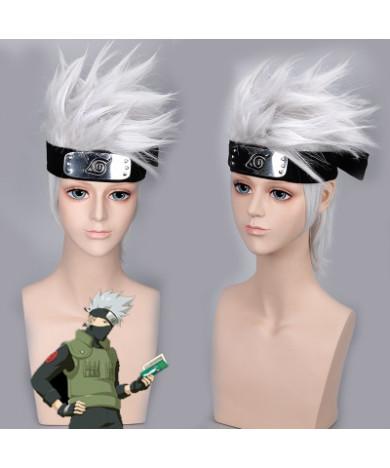 Naruto Hatake Kakashi cosplay wig 30cm Short Gray Party Wigs
