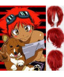 Cowboy Bebop ED Cosplay Wig Short Red Heat Resistant Fiber Party Wigs
