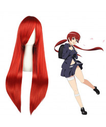 A Certain Magical Index Musujime Awaki Red Cosplay Wig