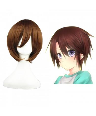 07-Ghost Kasutoru Brown Cosplay Wigs 32 cm