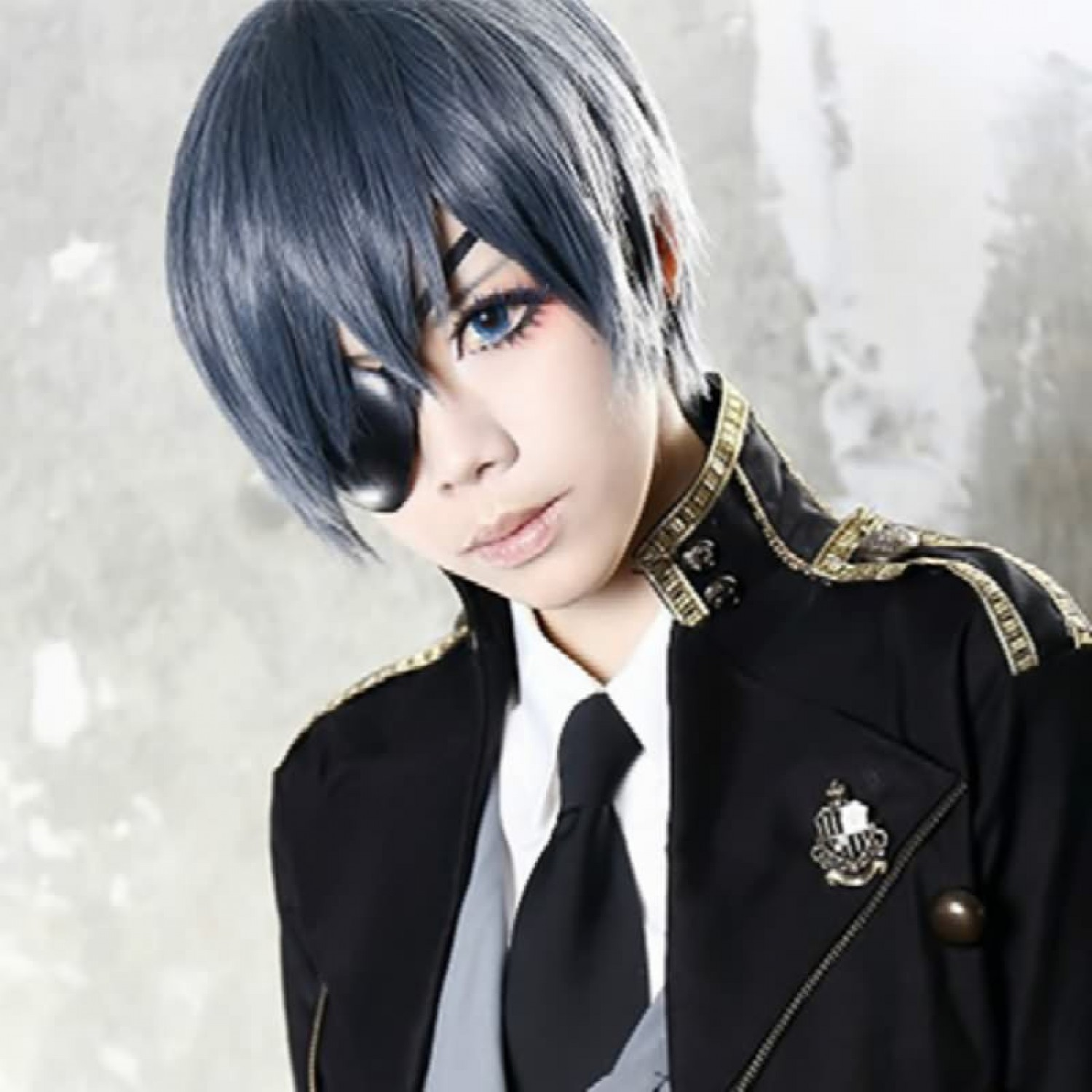 Black Butler Ciel Anime Phantomhive Short Dark Blue Mixed Grey Cosplay Men/'s Wig