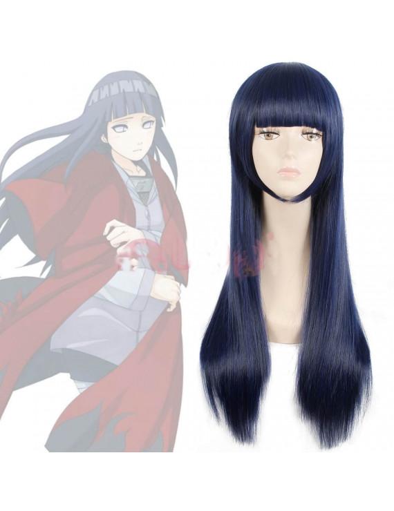 Naruto Shippuden Hinata Hyuga Blue Black Mixed Color Long Straight Cosplay Wig