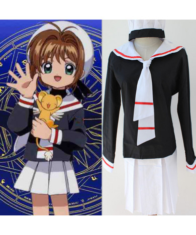 Clear Card Sakura KINOMOTO SAKURA School Uniform Cosplay Costumes