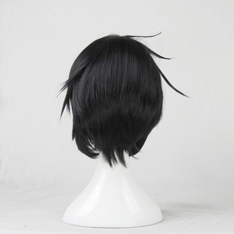 Black Butler Sebastian Michaelis Black Short Cosplay Wig
