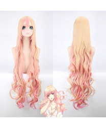 120cm Macross Delta Sheryl Nome Pink Blonde Cosplay Wig