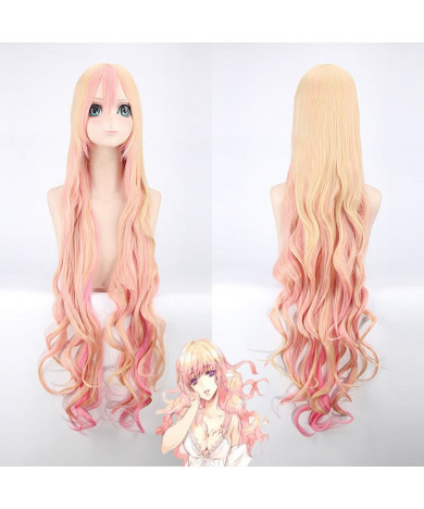 120cm Macross Delta Sheryl Nome Pink Blonde Cosplay Wig