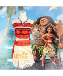 Moana Princess Fancy Dress Outfit Cosplay Costume for Adult Children
