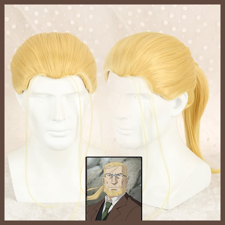 Fullmetal Alchemist Hohenheim Elric Golden Cosplay Wig