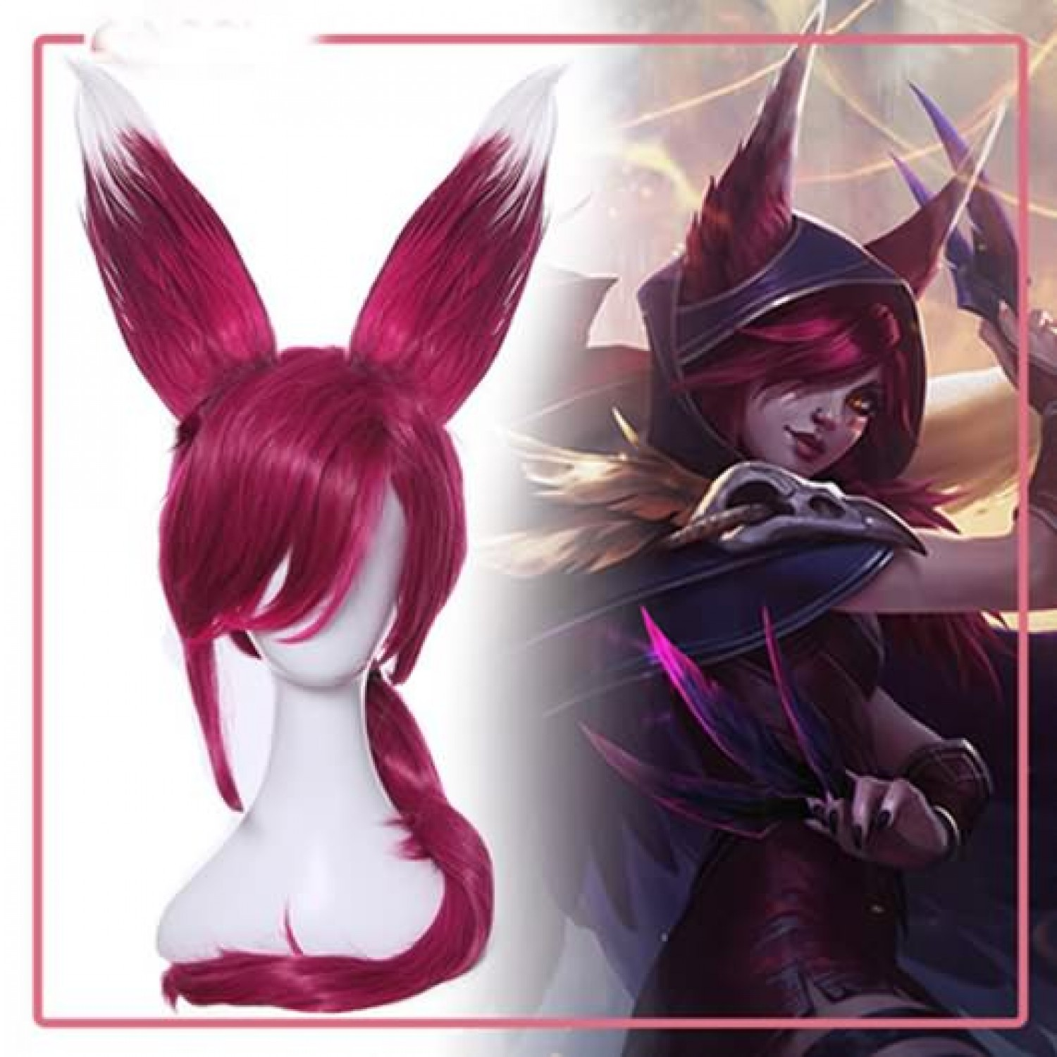 League Of Legends LOL Xayah The Rebel Cosplay Wig