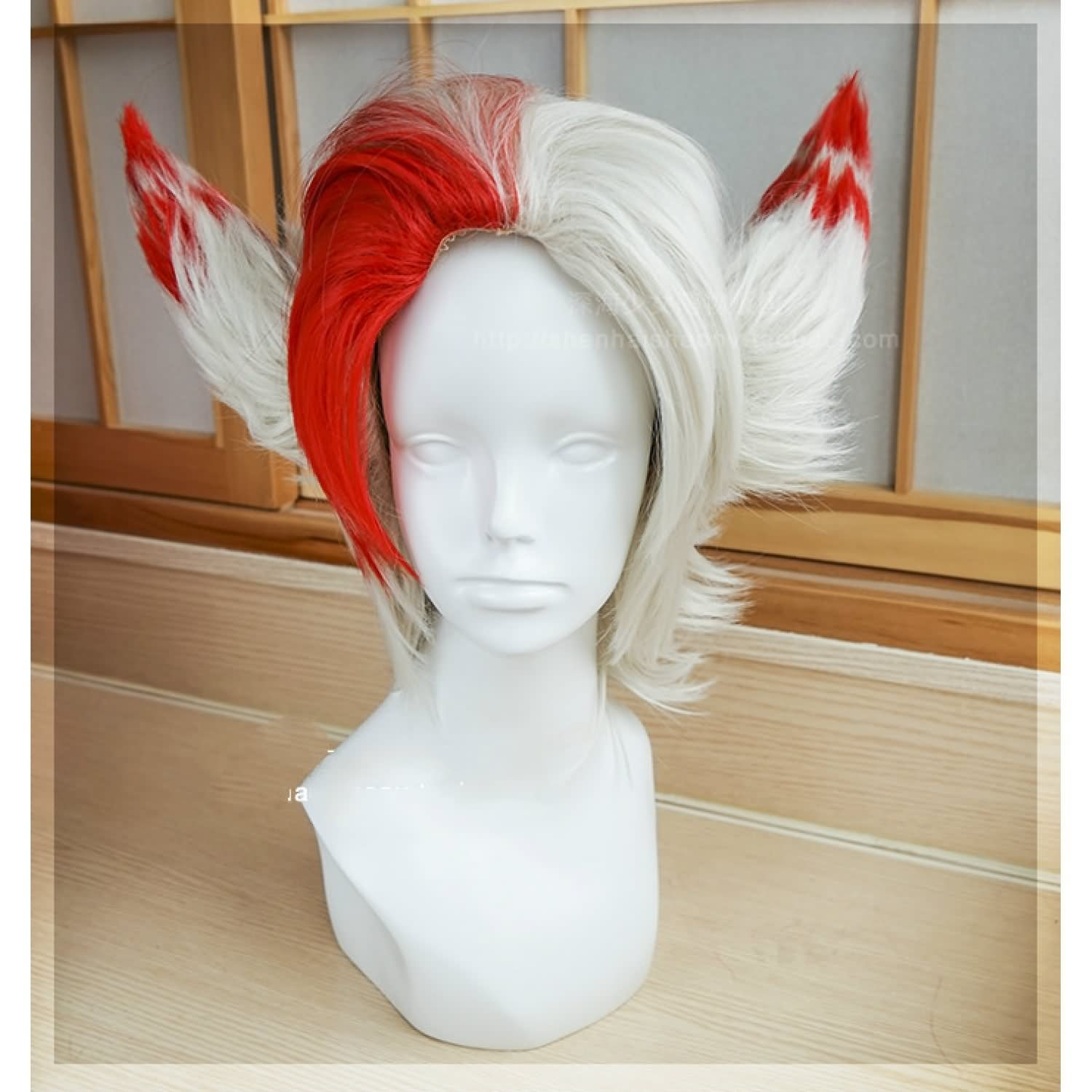 League of Legends LOL Rakan Cosplay Wigs +Two Ears