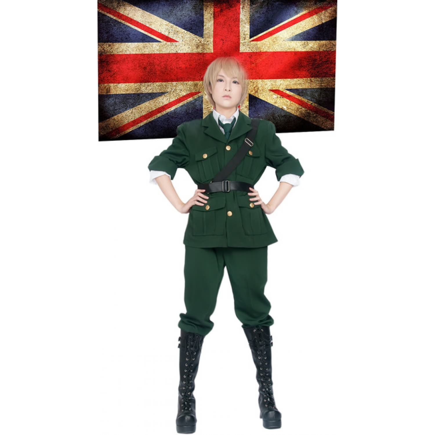 Axis Powers Hetalia England Arthur Kirkland Uniform Cosplay Costume