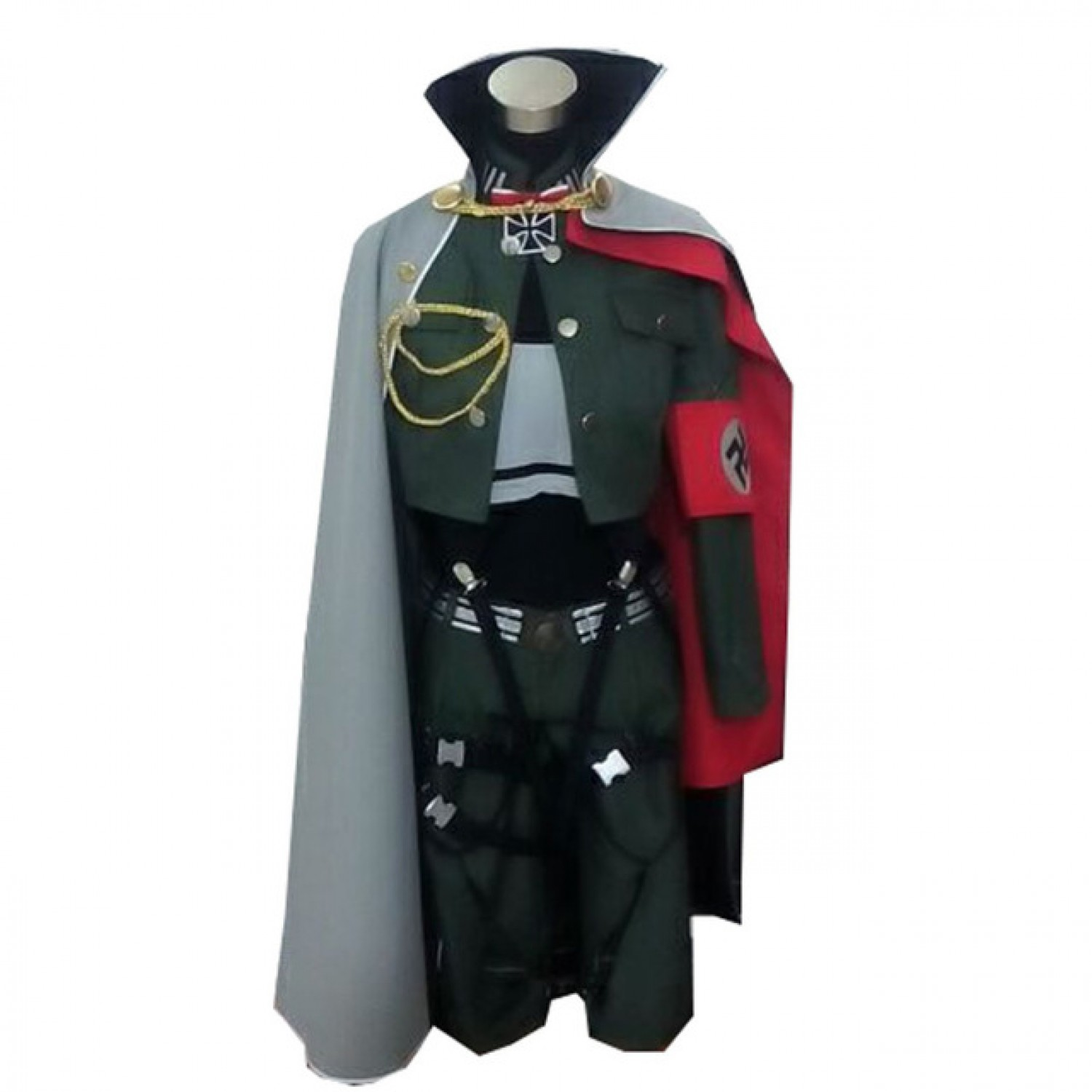 Hetalia Axis Powers Germany Monica Beillschmidt Cosplay Costume