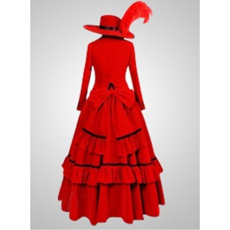 Black Butler Angelina Dares Red Dress Cosplay Costume