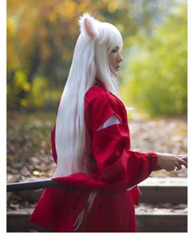 Inuyasha InuYasha Wig Long Straight White Cosplay Wig with Ears
