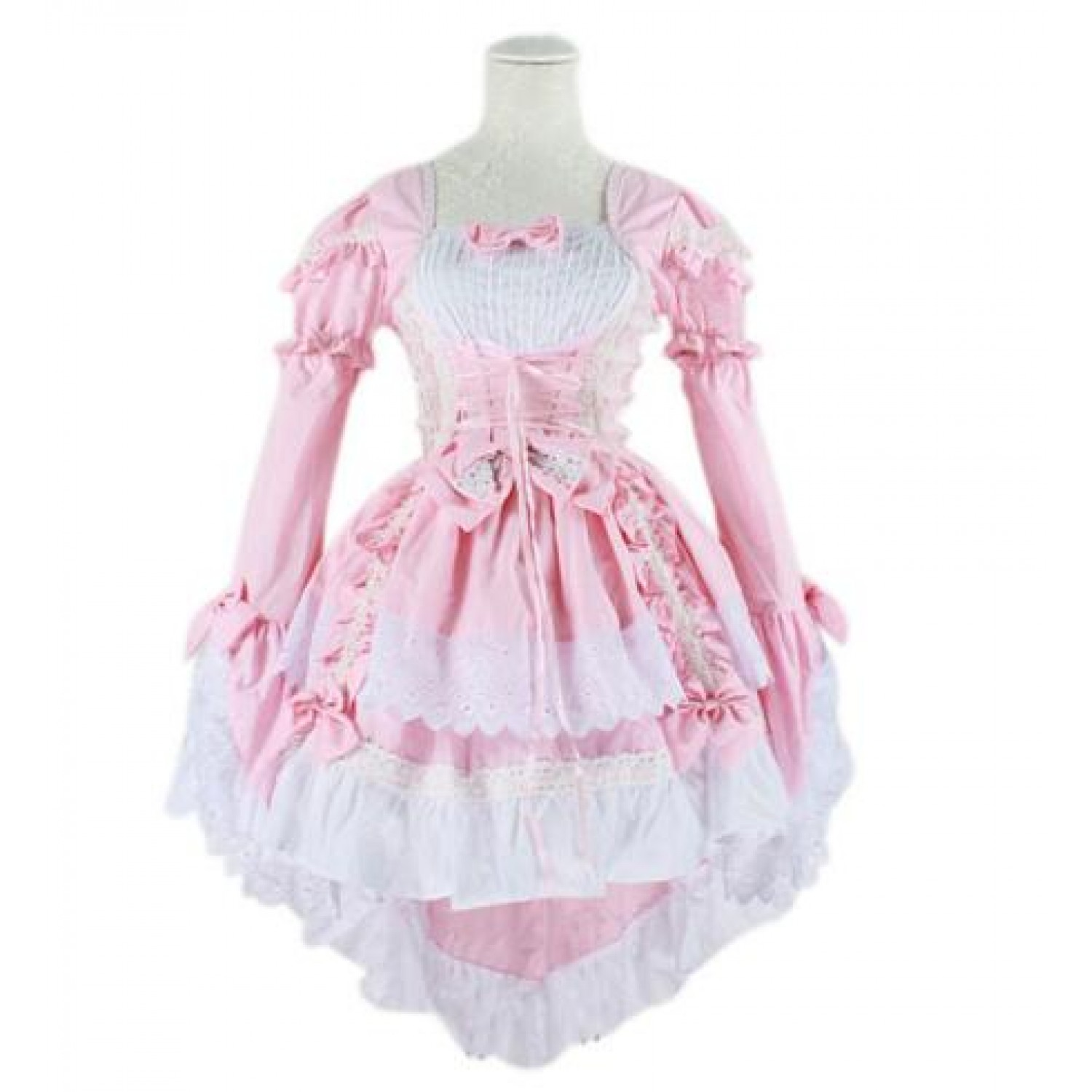 Pink Gothic Lolita Maid Dress Cosplay Costume