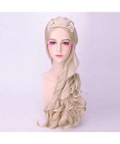 Game of Thrones Daenerys Targaryen Khaleesi Long Blonde Cosplay Wig