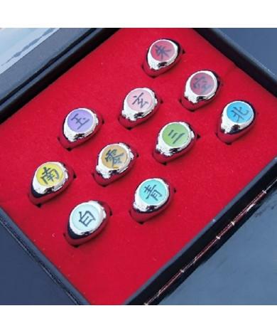 10 Pcs NARUTO Akatsuki Cosplay Member's Rings