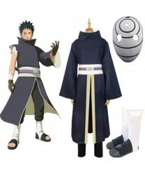 Naruto Akatsuki Ninja Uchiha Tobi Obito Madara Obito Cosplay Costume with Mask