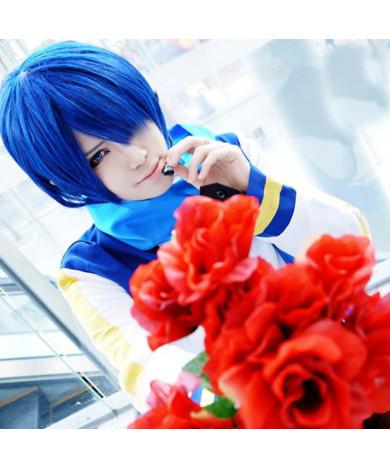 Vocaloid Kaido Dark Blue Short Cosplay Wig