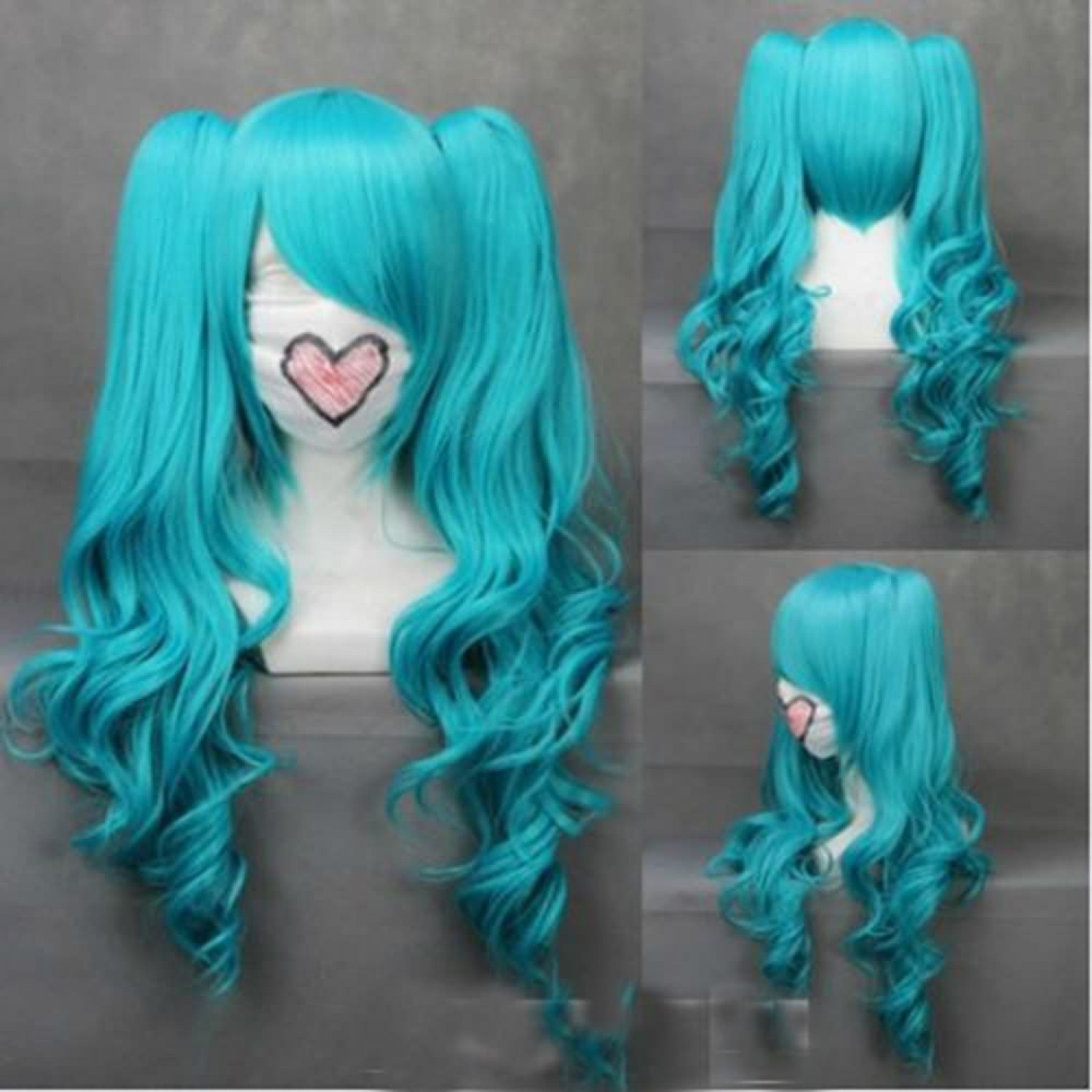 VOCALOID 2 Hatsune Miku Mixed Blue Cosplay Wig