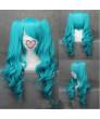 VOCALOID 2 Hatsune Miku Mixed Blue Cosplay Wig