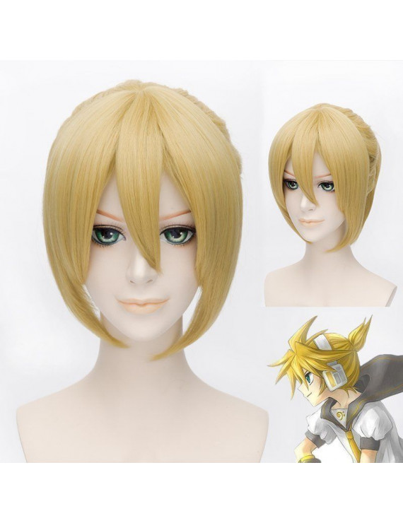 Vocaloid Kagamine Rin Blonde Cosplay Wig