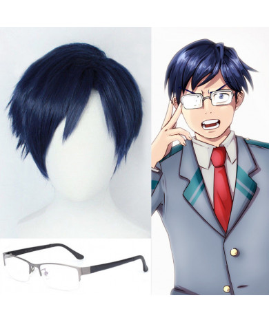 Boku No Hero Akademia My Hero Academia Ingenium Iida Tenya Blue Cosplay Wig
