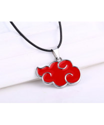 Naruto Akatsuki Black Silver Red Pendant Necklace