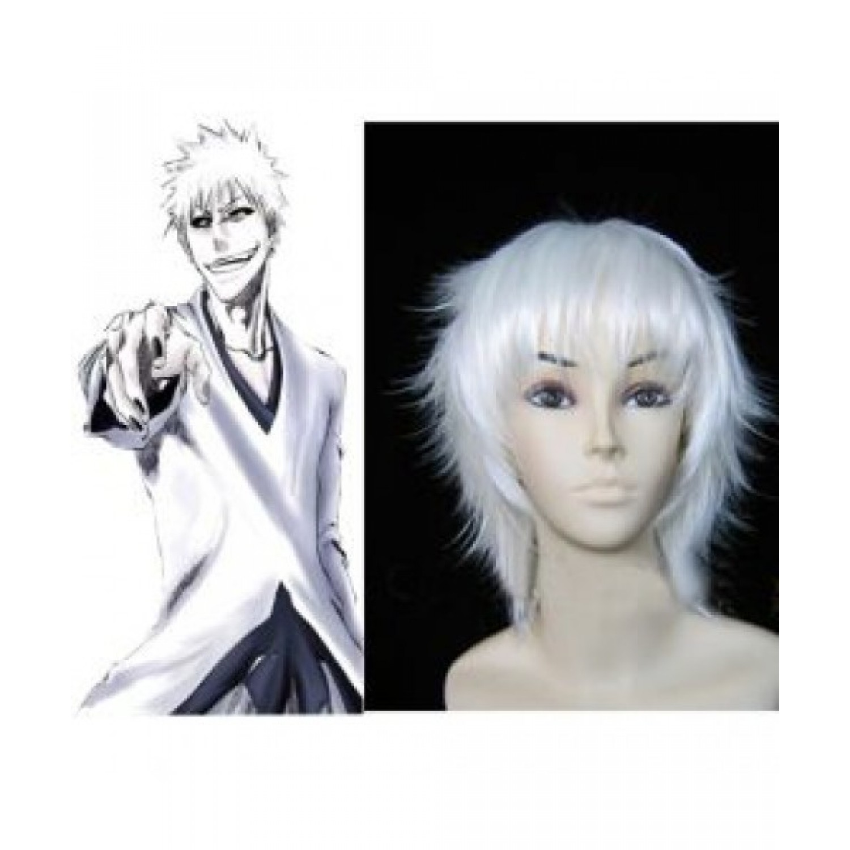 Bleach Hollow Kurosaki Ichigo White Short Cosplay Wig
