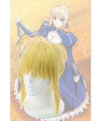 Fate Stay Night Saber Blonde Short Synthetic Hair Cosplay Wig